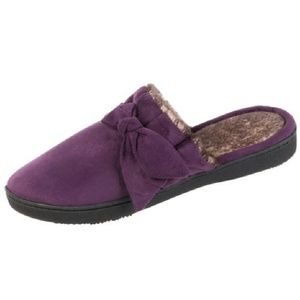 Isotoner Microsuede Scuffs Slipper Med LARGE NWT